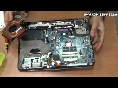 Разборка и чистка ноутбука SONY VAIO PCG-3E2L, замена термопасты.