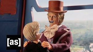 Repeat youtube video The REAL Ending of Willy Wonka & The Chocolate Factory | Robot Chicken | Adult Swim
