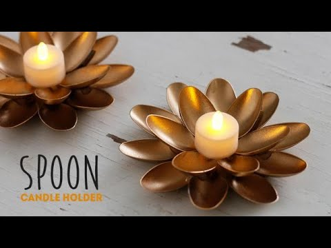 diy spoon candle holder youtube. Black Bedroom Furniture Sets. Home Design Ideas