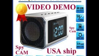 Video Demo!  Spy Camera, Top Secret Mini Clock Radio Hidden/covert Dvr 32gb Sd Audio/video Mvs01
