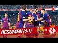 Resumen de FC Barcelona vs Cultural Leonesa (4-1)