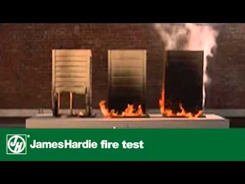 James hardie cladding fire test youtube for Fiber cement siding fire rating