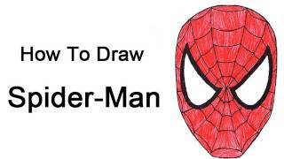 How to Draw Spider-Man (Head/Mask)