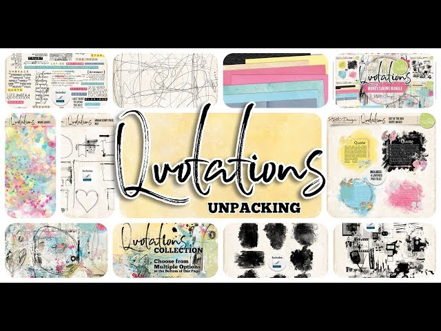 Quotation Collection - Unpacking - by NBK-Design