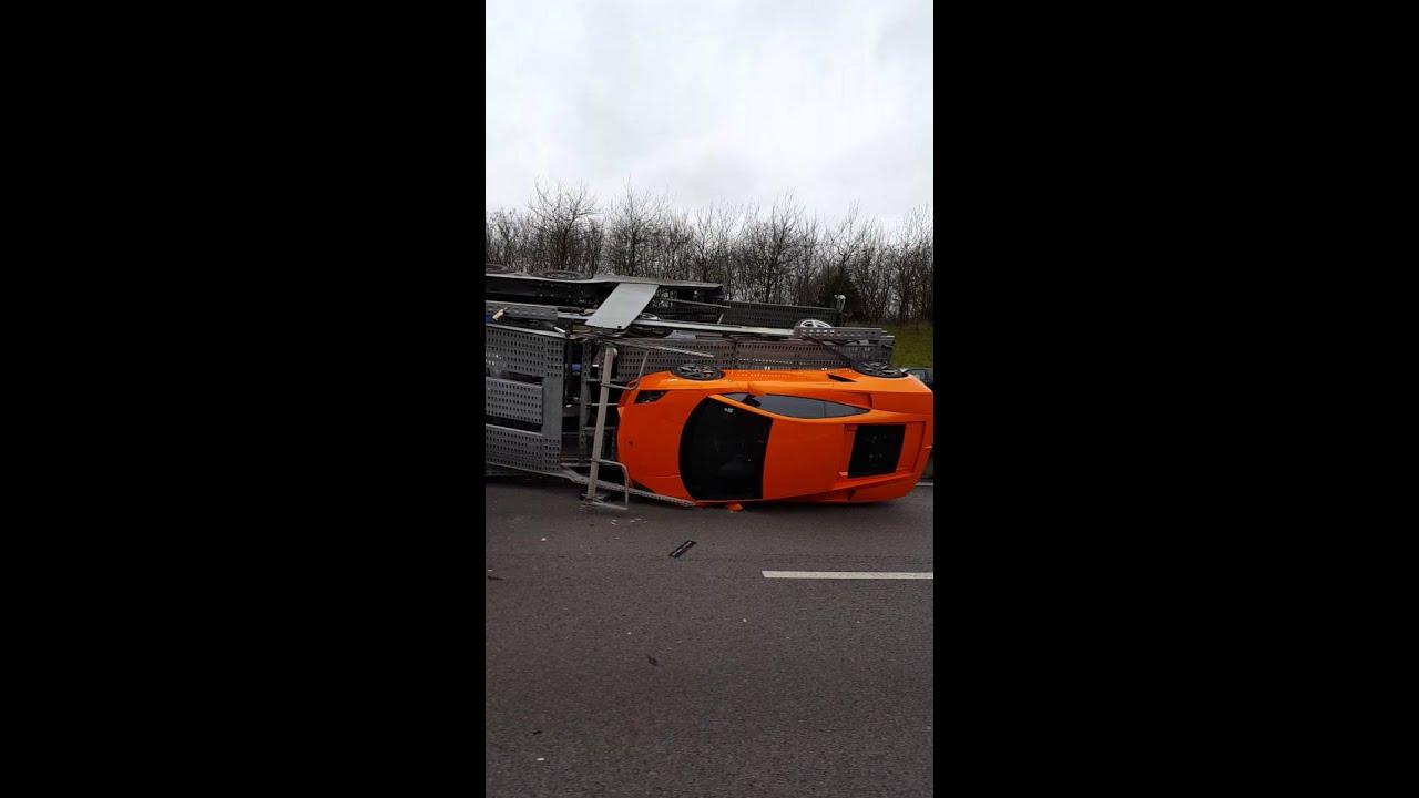 Accident Semi Remorque Porte Voiture Truck Crash Car