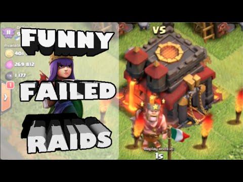 Clash of Clans- *BIGGEST QUEEN AI FAIL EVER?!* Plus MLG Town Hall Snipe Fail!