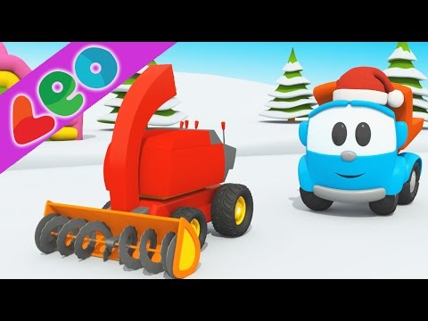 Léo le camion benne curieux et l'assemblage d'une chasse-neige