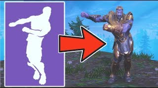 THANOS does the FORTNITE DANCES! - All Fortnite Dances on Thanos Infinity Gauntlet (Battle Royale)