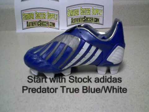 new arrivals f346f 409a9 amazon custom adidas predator power swerve true blue white 2009 soccer shoe  732ca 2bc43