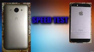 hUAWEI Y3 VS iPhone 5S  SPEED TEST