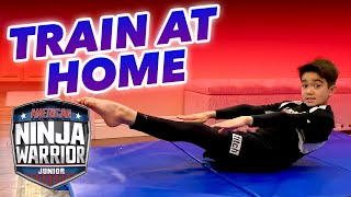 How to Do Ninja Training at Home!  | #StayHome #WithMe | American Ninja Warrior Junior
