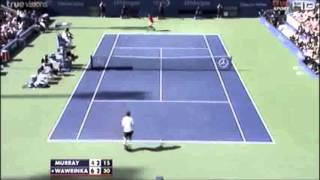 US open 2013 Quarter Final Deafeat of   Andy Murray vs  Wawrinka
