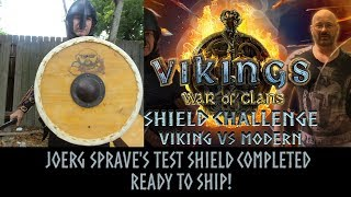 Viking shield completed for Joerg Sprave's Time Traveling Viking challenge