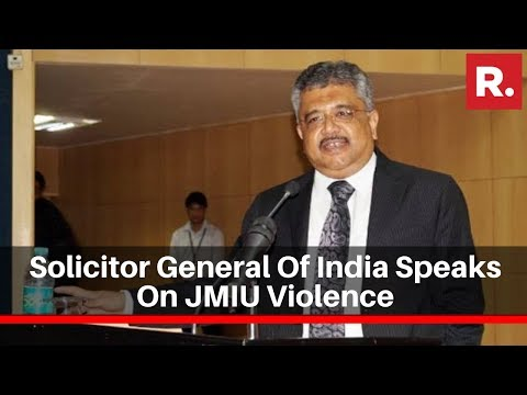 Solicitor General Of India Speaks On JMIU Violence In SC, Says 'No Students Were Arrested'