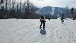 Буковель. Спуск по трассе 14а (2013)(Жена третий день на лыжах! Уже устала, но довольная =))), 2013-01-31T20:43:20.000Z)