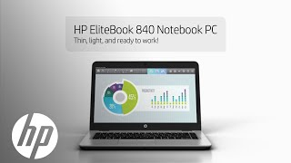 HP EliteBook 840 with HP Sure View integrated privacy screen. Product Demo