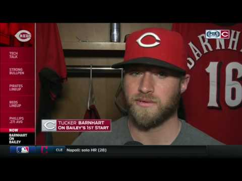 Tucker Barnhart offers thoughts on Homer Bailey's first start for Cincinnati Reds