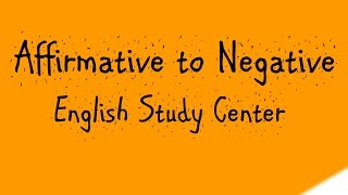 Affirmative Negative Sentence