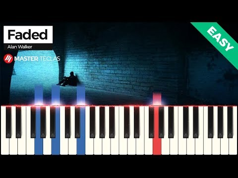 💎 Faded - EASY - Alan Walker Piano Tutorial 💎