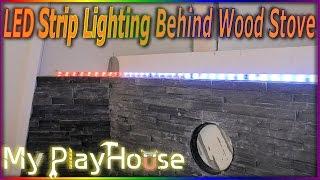 how to setup led strip lighting behind wood stove 375