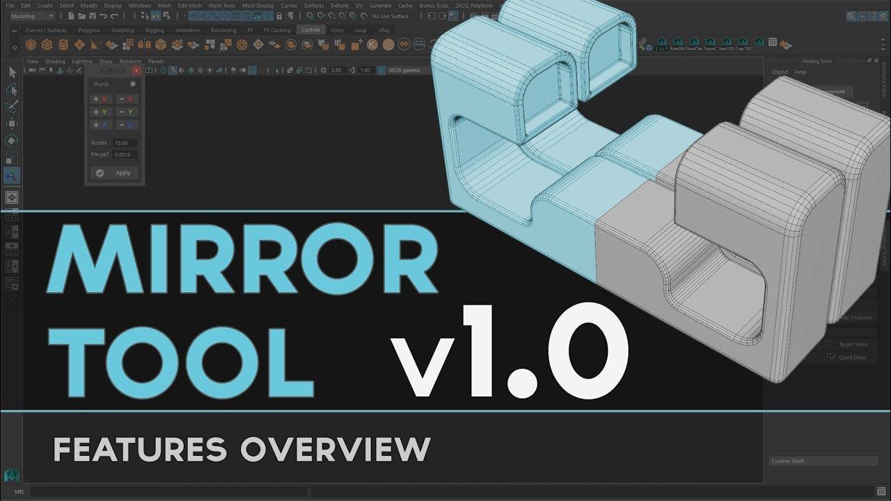 Mirror Tool v1 0 - Script for Maya