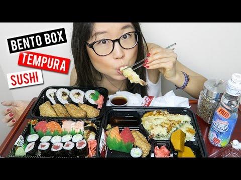 Japanese Bento Box & Sushi MUKBANG