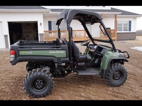 john deere 855d diesel gator with power steering 2013 youtube. Black Bedroom Furniture Sets. Home Design Ideas