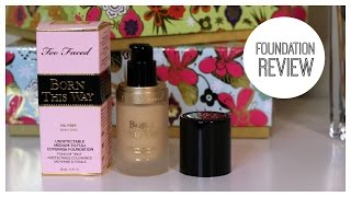 too faced born this way foundation review   bailey b