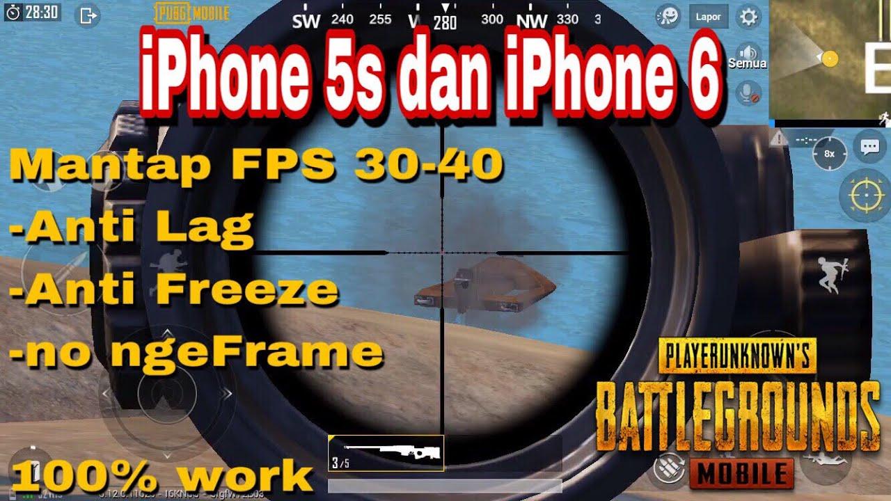 Cara mengatasi lag atau freeze Pubg Mobile di iphone 5s dan 6 ala BiuBiu