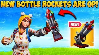 *NEW* BOTTLE ROCKETS ARE OP! - Fortnite Funny Fails and WTF Moments! #461