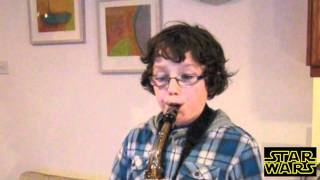 Star Wars Theme Tune on Alto Sax (with notes)