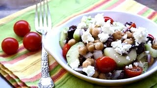 Salad Recipes - How To Make Greek Garbanzo Bean Salad