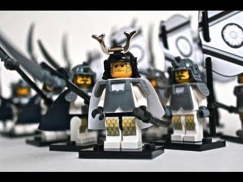 Lego White Lotus Samurai Army Youtube
