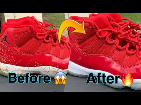 Cleaning Dirty Jordan 11's 🤢 *Back to NEW!