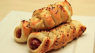 Sausage Puff Rolls Recipe - Knitted Turkish Borek