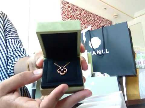 Van clef arples Alhambra limited edition necklaces unboxing