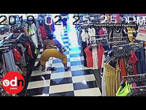Police In Florida Hunt Female Shoplifter Twerking On CCTV