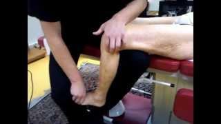 Ostéopathie: douleur Genou = subluxation tête fibula (péroné) Antéro-Superieure