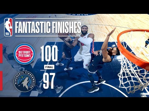 Pistons vs Timberwolves - Best Plays From the 4th Quarter | November 19, 2017
