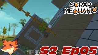 Scrap Mechanic S02E05 - On améliore le gyroscope et on ... crash la base?