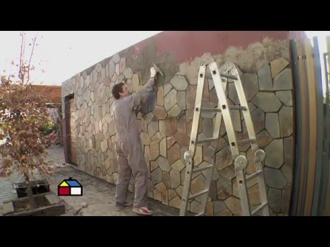 C mo revestir con piedra un muro exterior sodimac for Tipos de piedras para paredes exteriores