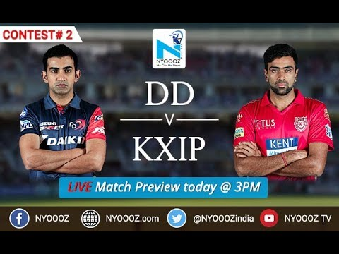 Live IPL 2018 DD VS KXIP Match preview | NYOOOZ Indian Premier League Cricgully | NYOOOZ TV