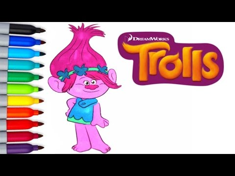 dreamworks trolls poppy fun coloring activities page for children