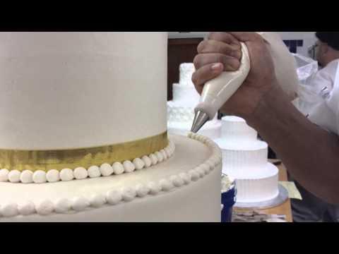 Wedding Cake Decoration - The Dotted Swiss Cake