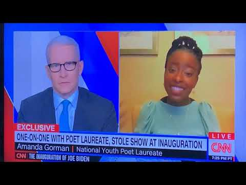 Amanda Gorman Inauguration 2021 Poet Interview With Anderson Cooper On CNN