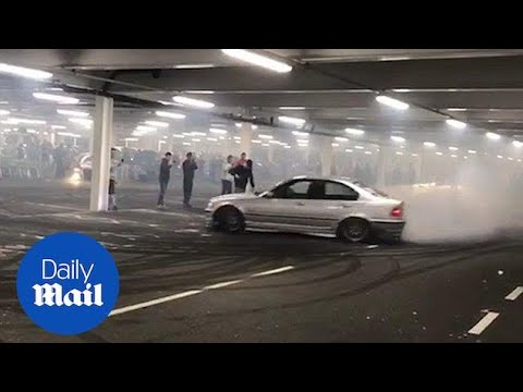 Underground Asda car park used for dangerous street racing stunts