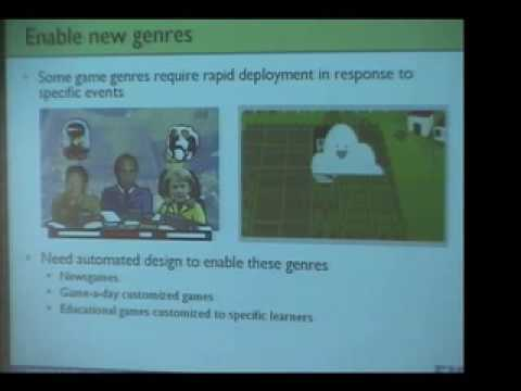 Automated Support for Game Design