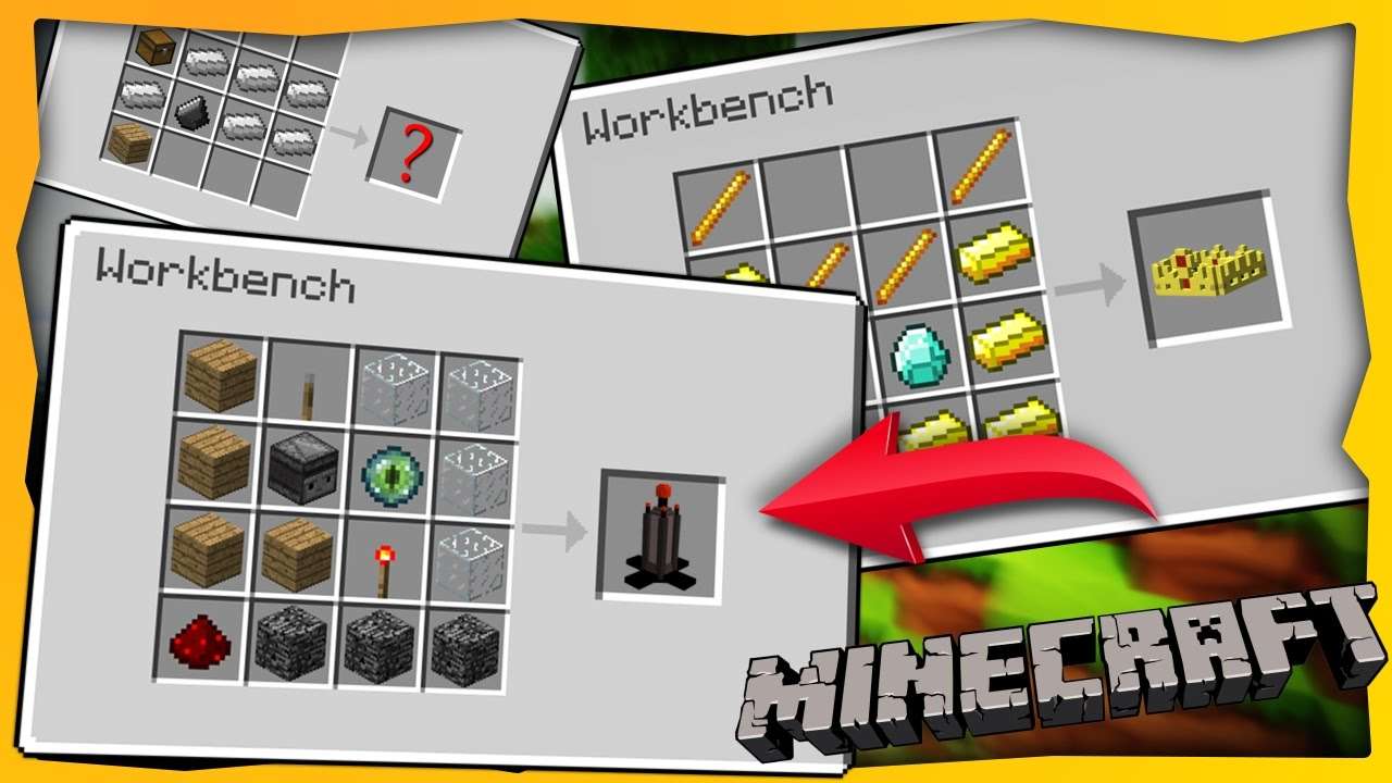 ✓ Minecraft: 10 New Crafting Recipes - YouTube