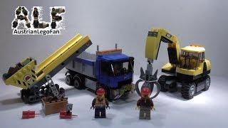 Lego City 60075 Excavator & Truck / Bagger Und Transportwagen - Lego Speed Build Review