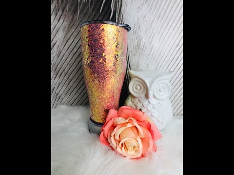 How to Epoxy a Chunky Glitter Tumbler Hang Method